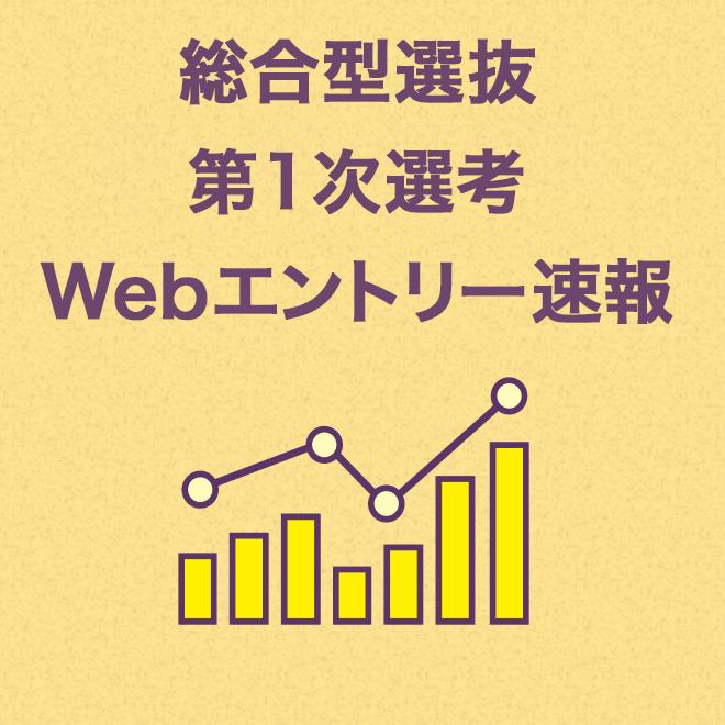 総合型選抜 第1次選考 Webエントリー速報