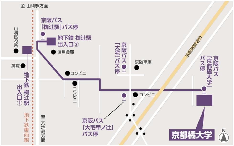 駅 まで から 京都 ここ